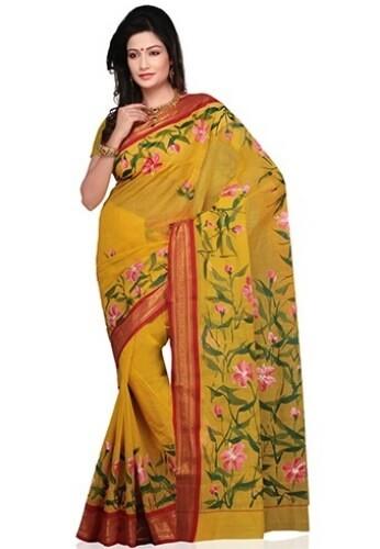 Floral Designer Tant Saree