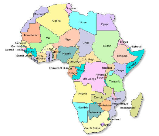Africa Localizacion Ciencia Geografica