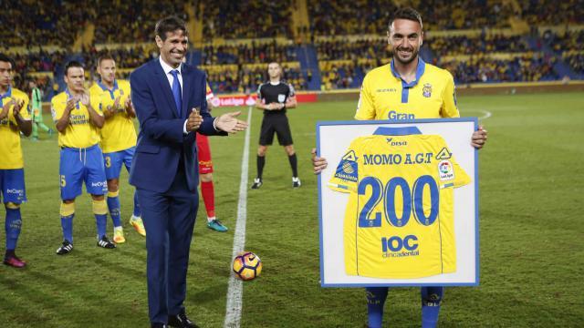 Homenaje a Momo por 200 partidos con UD Las Palmas