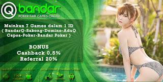 Bonus Cashback 2x Judi Sakong Online QBandars.net - www.Sakong2018.com