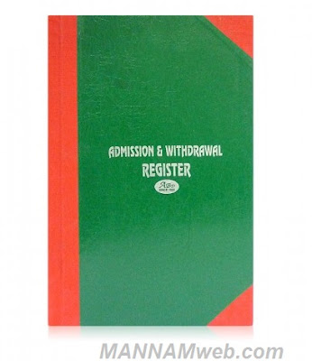 Maintaining  Student's Admission Cum Withdrawal Register