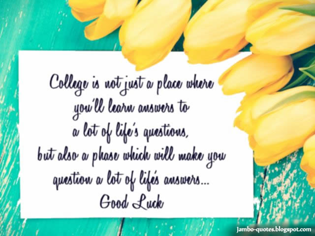 Leaving College Sayings For Friends: Good Luck Quotes | Short