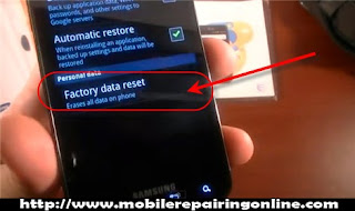 factory totally reset Wipe data remove password Android password