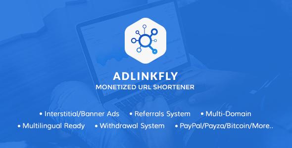 تحميل  AdLinkFly v4.5.1 سكريبت إختصار روابط  مجاناً مع تفعيل
