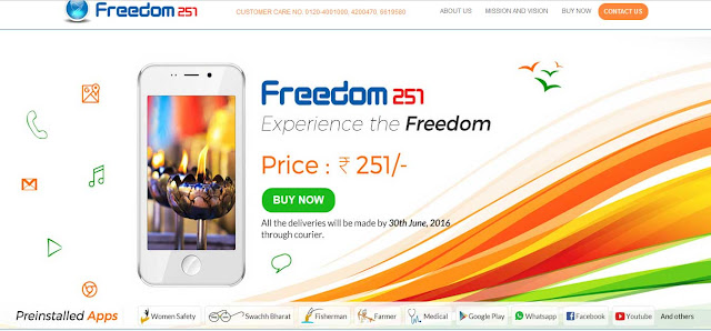 World`s Best Cheapest Ringing Bells Smartphone Freedom 251 : eAskme