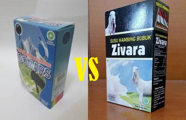 Susu kambing Gomars Vs Susu Kambing Etawa Zivara