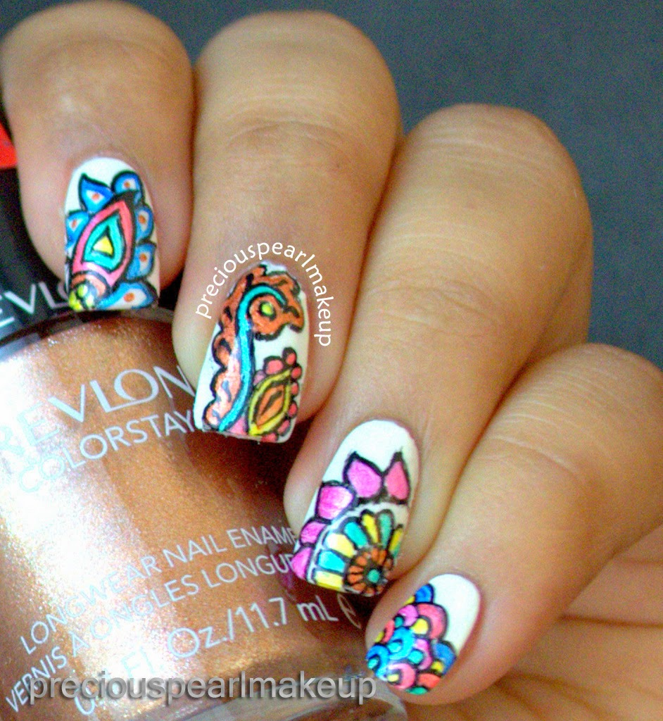 Preciouspearlmakeup: Henna Inspired Nails