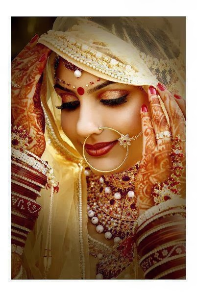 Dulhan Bindi on Bride's forehead