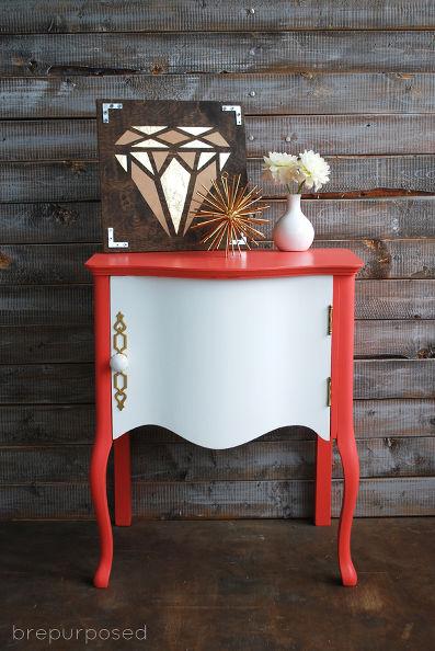 Vintage Coral Nightstand