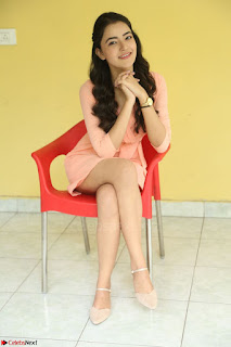 Rukshar Mir in a Peachy Deep Neck Short Dress 3.JPG