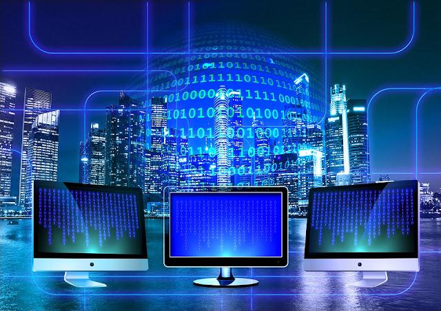 Modern Hi-tech representing wealth in the digital world