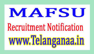 Maharashtra Animal Fishery Sciences UniversityMAFSU Recruitment Notification 2017