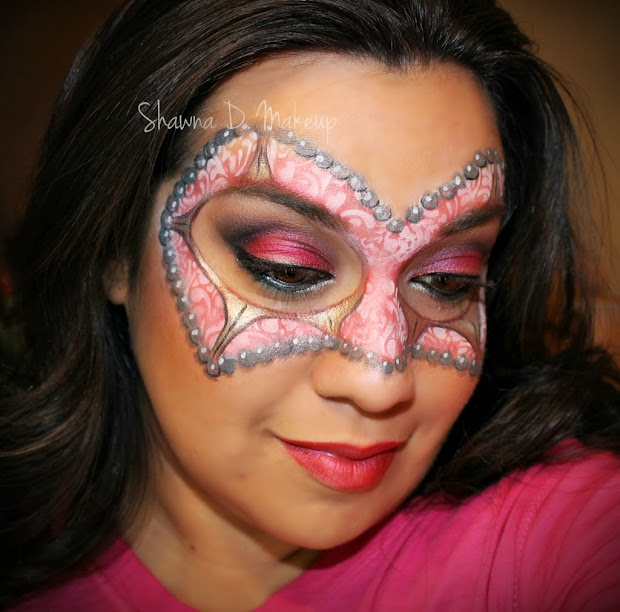 Shawna . Make- Valentine Face Painting And Makeup Design