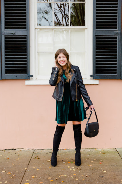 Ways To Style Over The Knee Boots with Dresses - Chasing Cinderella