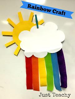 Spring Rainbow Craft, www.justteachy.blogspot.com