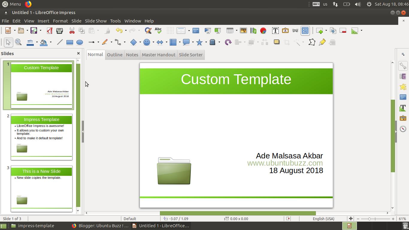 libreoffice impress: custom default template, Template Libreoffice Presentation, Presentation templates