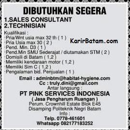 Lowongan Kerja PT. Pink Services Indonesia