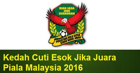 Kedah Cuti peristiwa 31 Oktober 2016