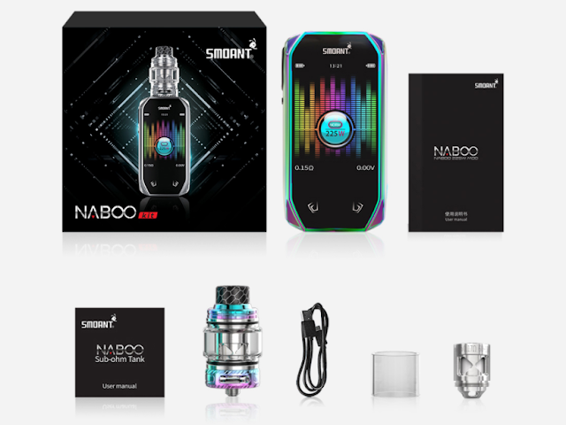 What Will You Get from Smoant Naboo 225W TC Kit 4ml