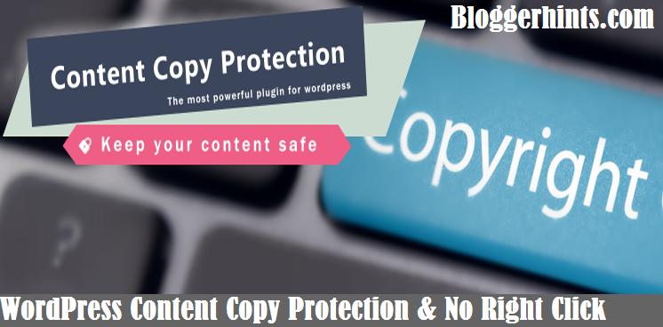 WP Content Copy Protection & No Right Click Plugin