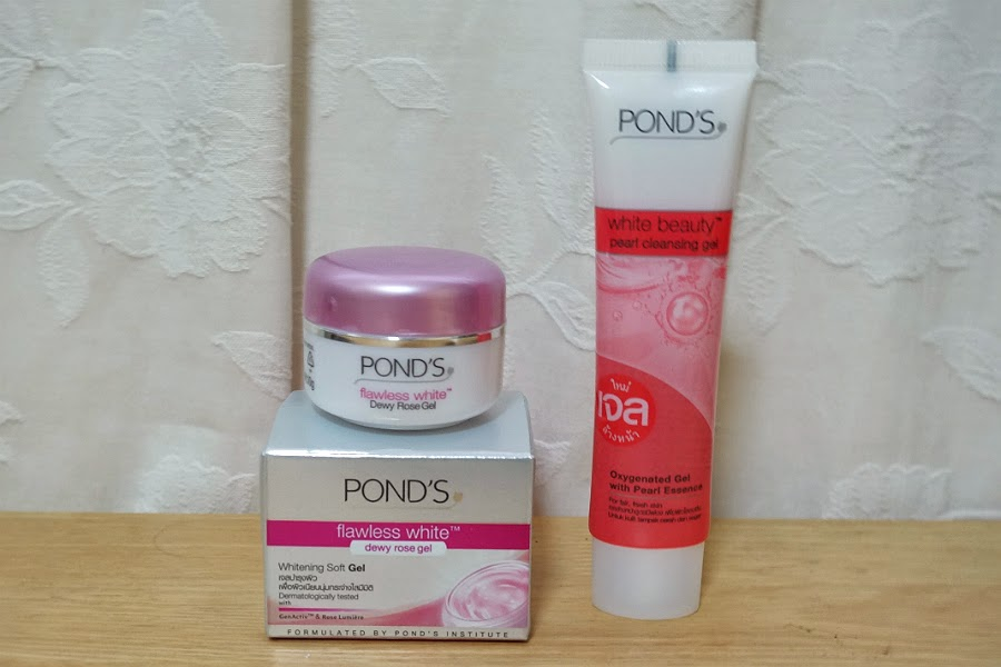 Pond's Pearl Cleansing Gel and Dewy Rose Gel