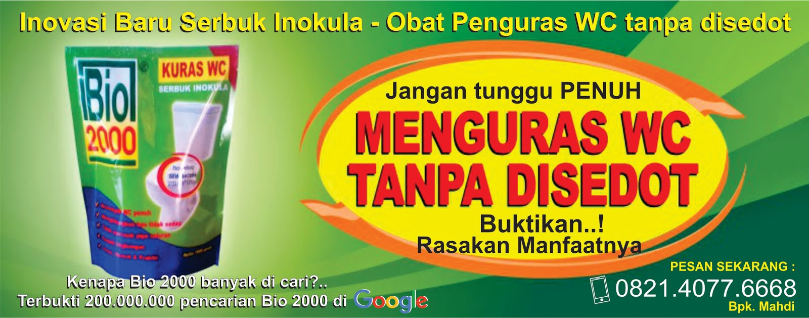 082140776668   BIO 2000   Obat Penguras WC Tanpa Disedot ...