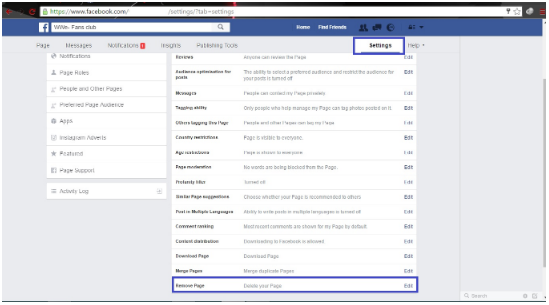 How to Delete Facebook Page or Facebook Account