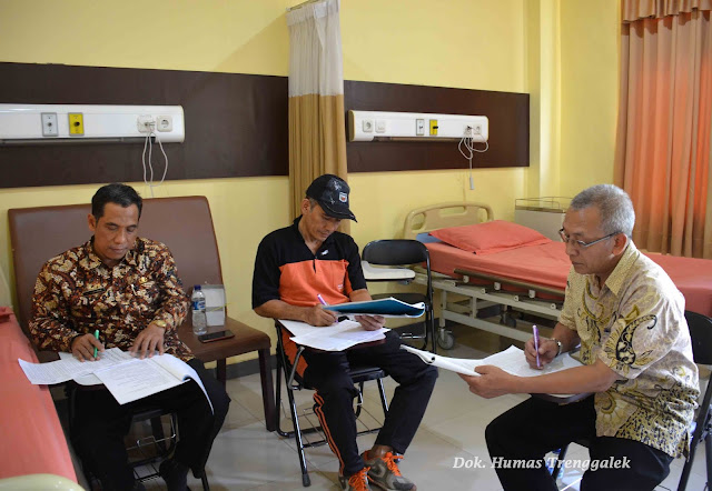 Empat Kandidat Sekda Trenggalek Jalani Medical Check Up