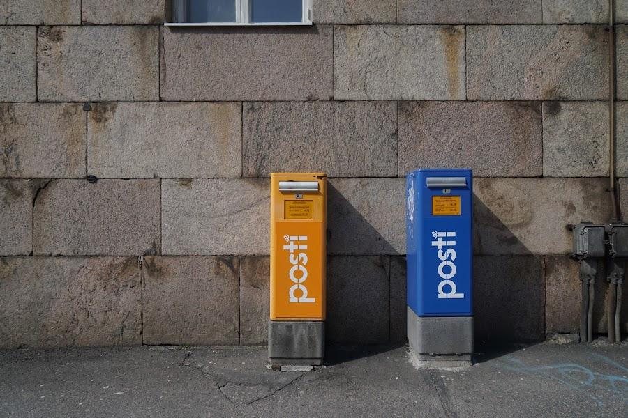 ヘルシンキ市内のポスト