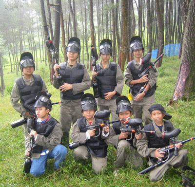 painball outbound di makassar sulawesi
