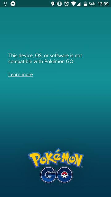 Pokémon GO se actualiza para no poder ser usado por roots