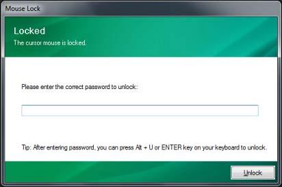 Gambar cara mengunci/lock keyboard, mouse dan desktop komputer