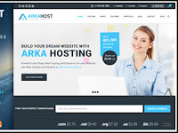 Template Wordpress ArkaHost untuk Website Hosting