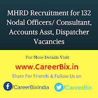 MHRD Recruitment for 132 Nodal Officers/ Consultant, Accounts Asst, Dispatcher Vacancies