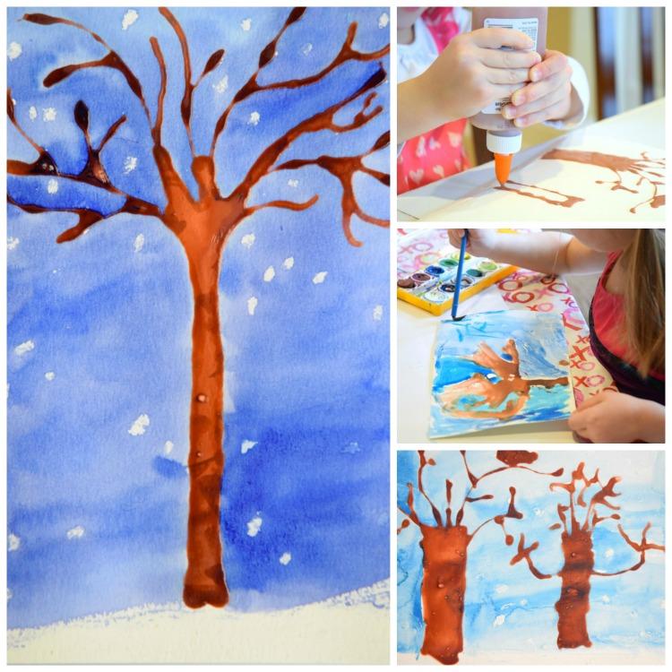 winter trees craft