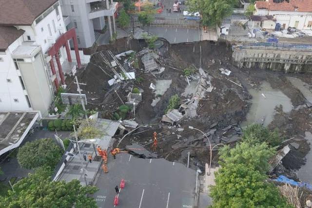 Ahli Geologi: Longsoran Jalan Gubeng Surabaya Bisa Merembet ke Daerah Sekitarnya