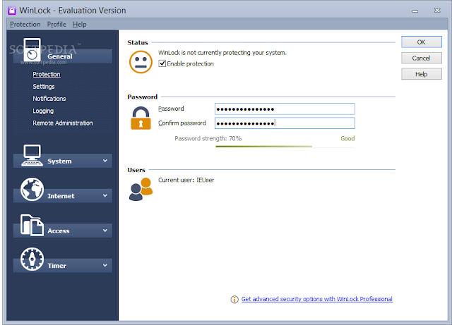 تحميل برنامج قفل الملفات والاقراص للكمبيوتر WinLock 7.03