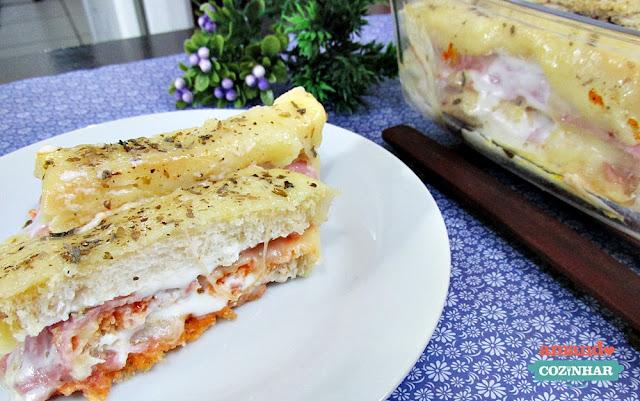 receita Bauru de forno ou lasanha de pão