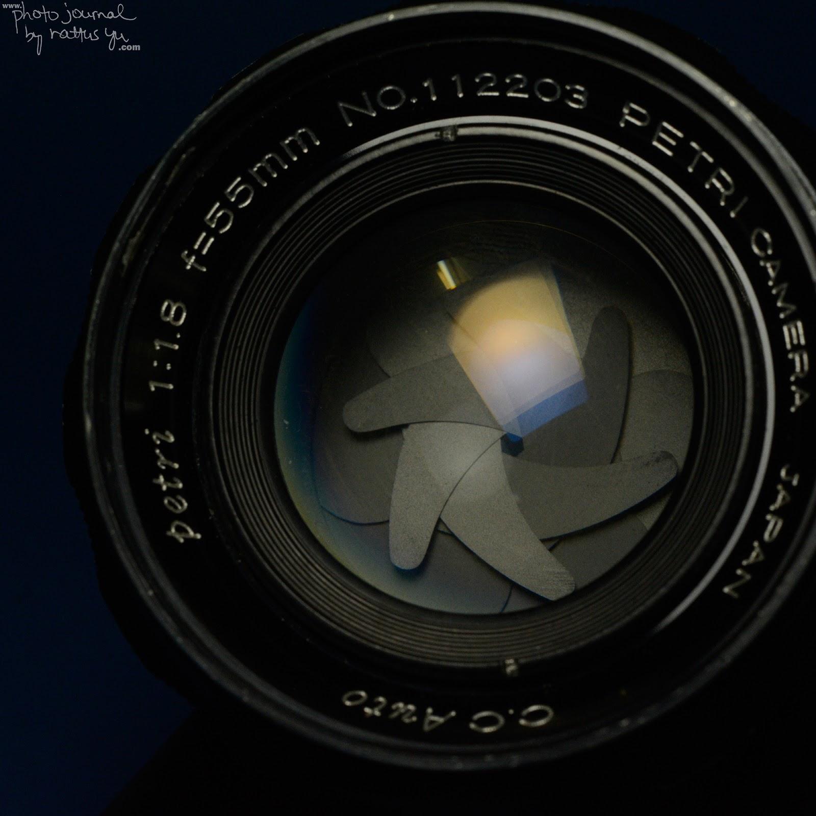 Petri 55/1.8 Petri Bayonet Mount to Nikon with Infinity