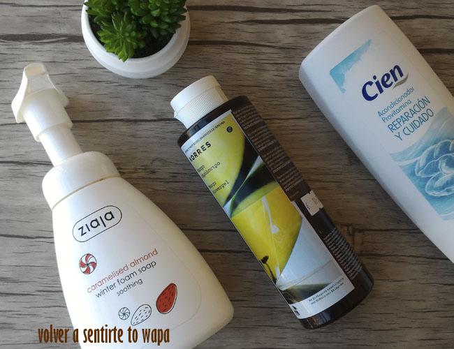 Productos terminados de jabones de ducha: Ziaja - Korres - Lidl