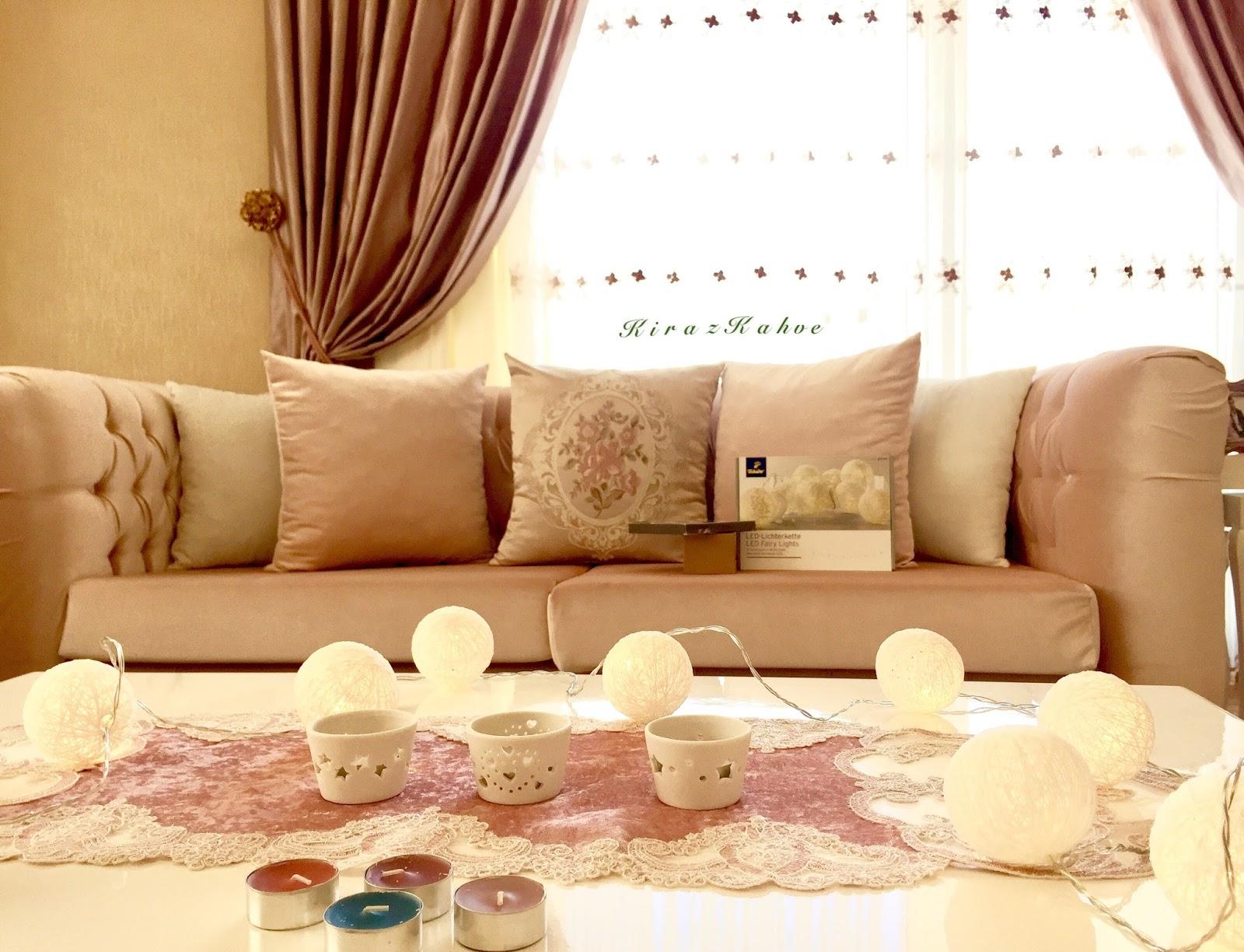 Alışveriş ~ Tchibo LED Işık Zinciri ve Tealight Mum ve Porselen Tealight Mumluk