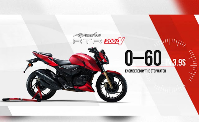 TVS Apache RTR 200 4V engine power