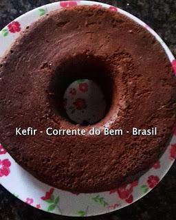 BOLO DE CHOCOLATE COM KEFIR DE LEITE