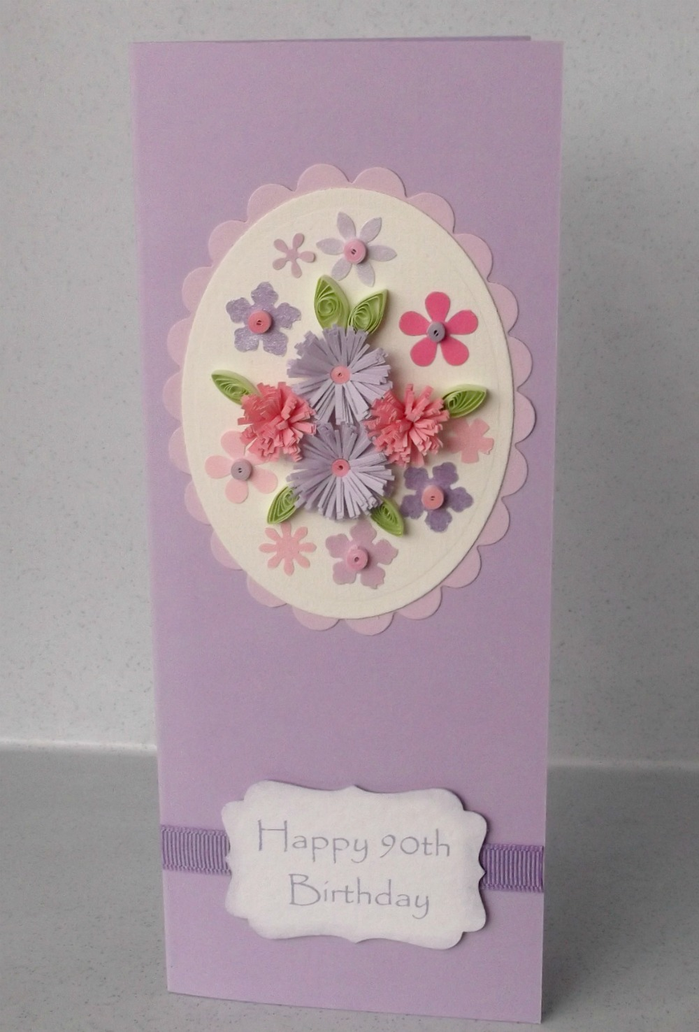 Paper Daisy Cards: Quilled 90th Birthday Card