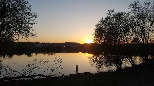 мгновения весны...закат над озером