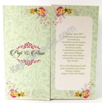 undangan pernikahan tema bunga majalengka