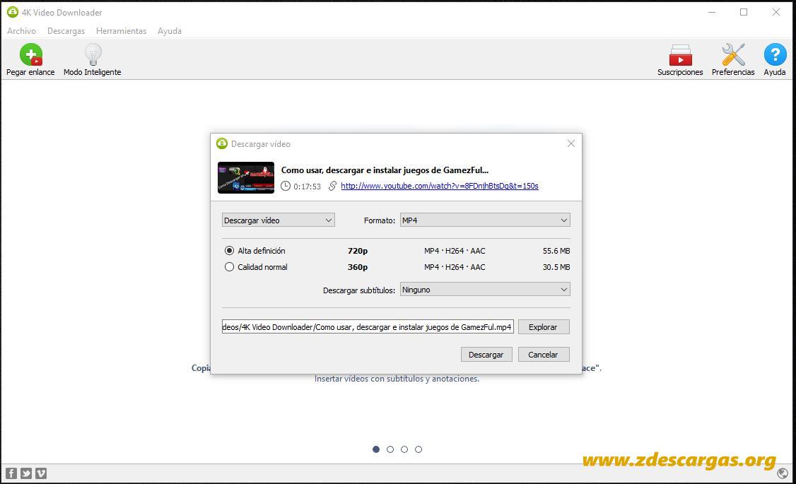 4K Video Downloader Full Español