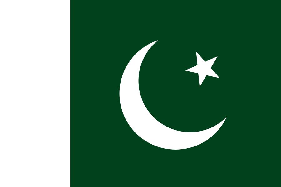 bandera azul roja y verde con luna y estrella