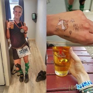 Berlinmarathon 2018 Finish Medaille Laufspatz.de 3h11min