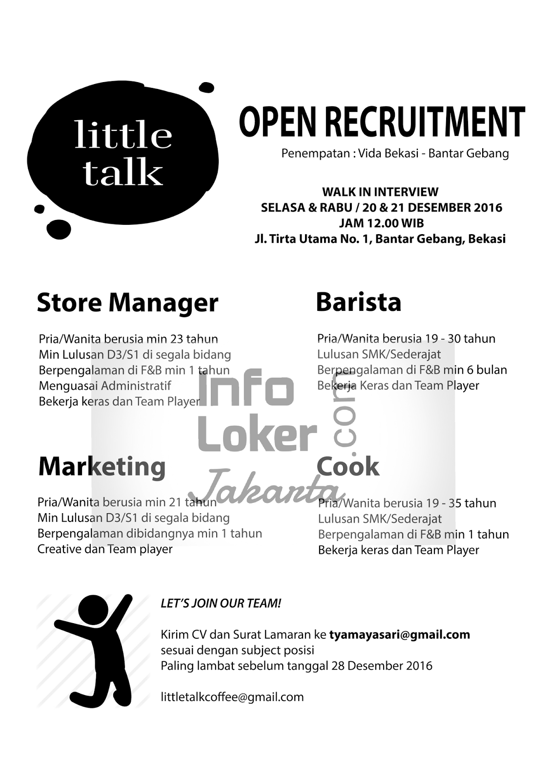Walk in Interview  Little Talk Desember 2016